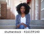 african american student girl ... | Shutterstock . vector #416159140