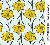 seamless flower  buttercup ... | Shutterstock .eps vector #416163190