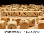 training word written on wood... | Shutterstock . vector #416166040