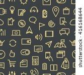 modern gadgets pictograms...