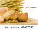 fresh baked bread sliced and... | Shutterstock . vector #41617333