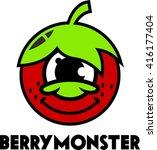 fruit logo template  | Shutterstock .eps vector #416177404
