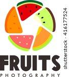 fruit logo template  | Shutterstock .eps vector #416177524