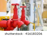 fire valve installation of fire ... | Shutterstock . vector #416183206