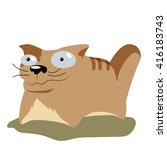 cartoon cat illustration | Shutterstock .eps vector #416183743