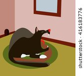 cartoon cat illustration | Shutterstock .eps vector #416183776