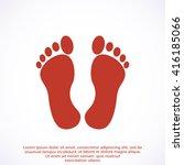 feet icon | Shutterstock .eps vector #416185066