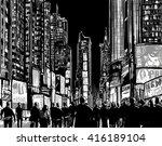 interpretation of times square... | Shutterstock .eps vector #416189104