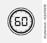 electronic timer 60 seconds. | Shutterstock .eps vector #416193658