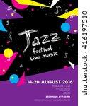jazz festival   live music.... | Shutterstock .eps vector #416197510