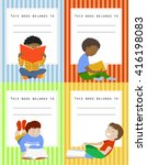vector set of book labels for... | Shutterstock .eps vector #416198083