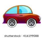 cartoon car isolated on white... | Shutterstock .eps vector #416199088