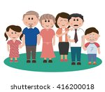 family photo | Shutterstock .eps vector #416200018