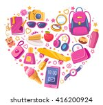 colorful illustration of many... | Shutterstock . vector #416200924
