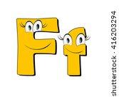 big eye and smile yellow... | Shutterstock . vector #416203294