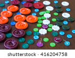 buttons of different colors and ... | Shutterstock . vector #416204758