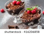 Chocolate Desserts With Whippe...