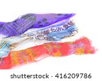 Pile Of Fabric Pieces That Wer...