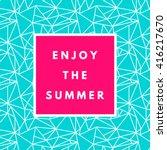 summer hipster boho chic... | Shutterstock .eps vector #416217670