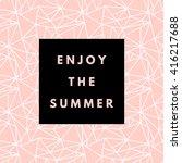 summer hipster boho chic... | Shutterstock .eps vector #416217688
