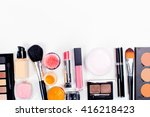 brush and cosmetic isolated on... | Shutterstock . vector #416218423
