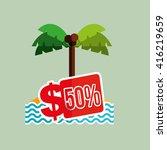 travel expenses design  | Shutterstock .eps vector #416219659