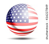 united states flag sphere... | Shutterstock .eps vector #416227849