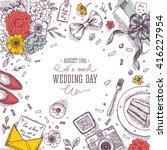 wedding party background.... | Shutterstock .eps vector #416227954