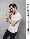 young man on cellphone call | Shutterstock . vector #416235274