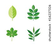 leaves vector icons | Shutterstock .eps vector #416237326