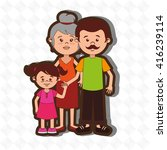 family members design  | Shutterstock .eps vector #416239114