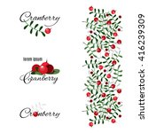 stylized cranberry labels... | Shutterstock .eps vector #416239309