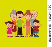 family members design  | Shutterstock .eps vector #416244730