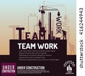 building under construction... | Shutterstock .eps vector #416244943