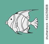 seafood dinner design  | Shutterstock .eps vector #416250808