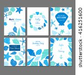 set of vector universal card... | Shutterstock .eps vector #416251600
