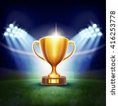 cup on stadium | Shutterstock .eps vector #416253778