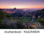 Prague Twilight Morning. Sprin...