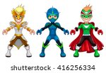 avatar young superheroes and... | Shutterstock .eps vector #416256334