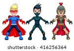avatar young superheroes and... | Shutterstock .eps vector #416256364
