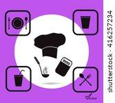 cook vector icon   Shutterstock .eps vector #416257234
