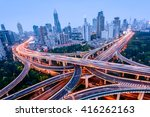 aerial view of a highway... | Shutterstock . vector #416262163