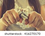 quit smoking cigarettes. a... | Shutterstock . vector #416270170