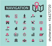 navigation icons  | Shutterstock .eps vector #416272720