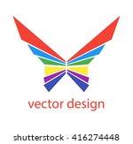abstract logo design. flat logo ... | Shutterstock .eps vector #416274448