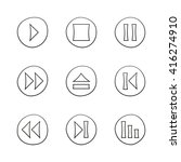 media player icons set....