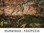 Ancient Brick Wall  Part Of...