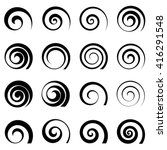 A Set Of Swirl Spiral Elements...