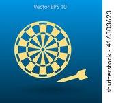 darts vector icon | Shutterstock .eps vector #416303623