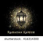 ramadan kareem greeting on... | Shutterstock .eps vector #416314300